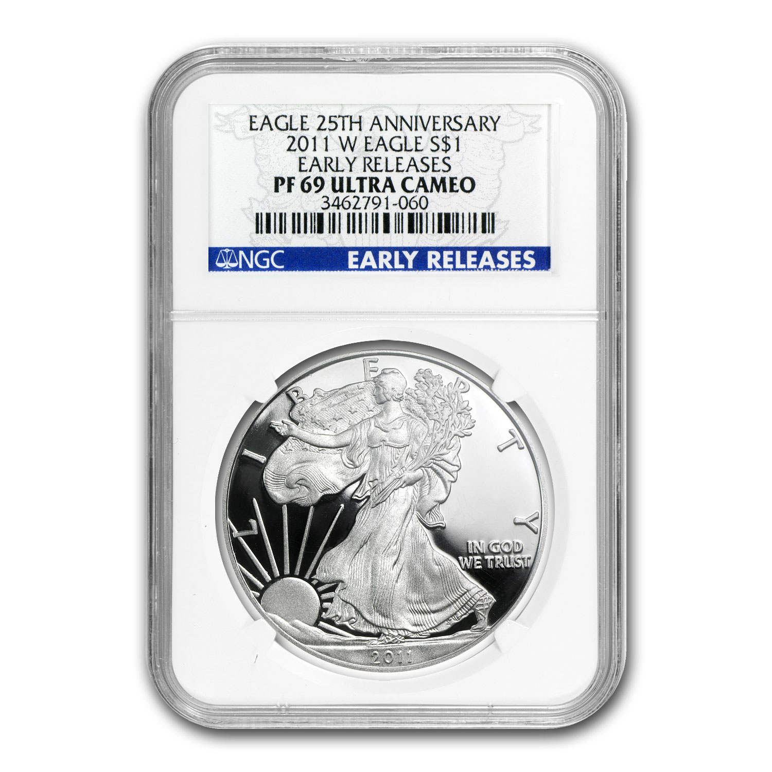 2011-W Proof Silver American Eagle PF-69 NGC (ER, 25th Anniv)
